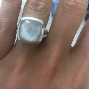 Jewelry - Pink Opal oversized Yurman look alike